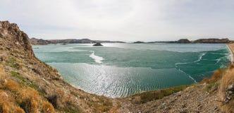 Het Reservoir van Kapchagay royalty-vrije stock afbeeldingen