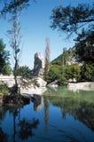 Het reservoir van het klappenwater vóór de DrÃ'me-sprong, Frankrijk stock afbeelding