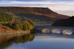 Het reservoir van Ladybower Stock Afbeeldingen