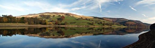 Het reservoir van Ladybower. Engeland Stock Foto