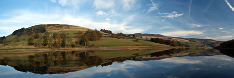 Het reservoir van Ladybower. Engeland Stock Foto's
