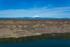 Het reservoir van meerbilly chinook in de centrale hoge woestijn van Oregon stock afbeelding