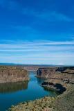Het reservoir van meerbilly chinook in de centrale hoge woestijn van Oregon stock afbeeldingen