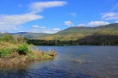 Het Reservoir van Nongbua Daeng, Chaiyaphum-Provincie Royalty-vrije Stock Afbeelding