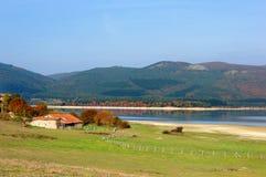 Het reservoir van Ullibarriganboa in Nanclares DE Gamboa royalty-vrije stock foto's