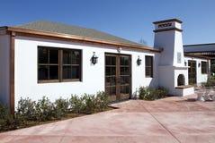 Het restaurant van Arizona met open haardterras Stock Foto's