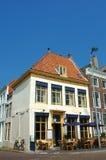 Het restaurant van de koffie met terras. royalty-vrije stock afbeelding