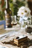 Het restaurant van de koffiecake napoleon Stock Afbeeldingen