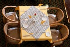 Het restaurant van de lijst stock foto's