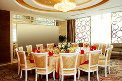 Het restaurant van de luxe royalty-vrije stock afbeeldingen