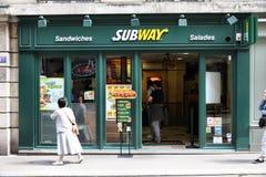 Het restaurant van de metro Stock Foto's