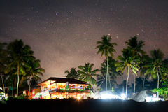 Het Restaurant van de nacht Stock Foto's