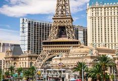 Het Restaurant van de Toren van Eiffel in Las Vegas Stock Foto's