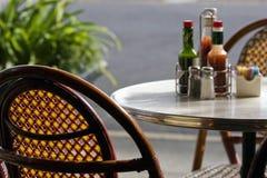 Het restaurant van de zomer Stock Afbeeldingen