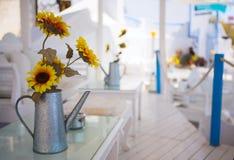 Het restaurant van de zomer Royalty-vrije Stock Fotografie