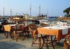 Het Restaurant van Harbourside Stock Afbeeldingen