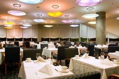 Het Restaurant van het hotel royalty-vrije stock afbeelding