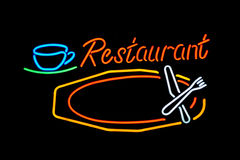 Het restaurant van het neon Royalty-vrije Stock Foto's