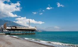 Het restaurant van het schip. Yalta royalty-vrije stock afbeeldingen