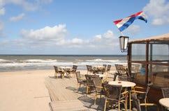 Het Restaurant van het strand Stock Afbeeldingen