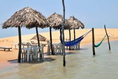 Het restaurant van het strand Stock Afbeelding