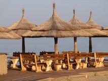 Het restaurant van het strand Stock Foto's