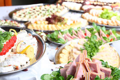 Het restaurant van het voedsel Stock Afbeeldingen