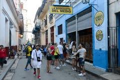Het restaurant van La Bodeguita del Medio in Oud Havana, Cuba royalty-vrije stock foto