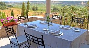 Het restaurant van Mediteranian stock foto