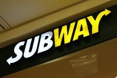 Het restaurant van het metro snelle voedsel stock fotografie