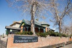 Het Restaurant van het sassafrasontbijt in Denver stock foto