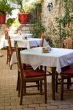 Het restaurant van Zadar stock afbeelding