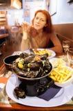 Het restaurant van zeevruchten Stock Afbeeldingen