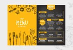 Het restaurantbrochure van het koffiemenu Het malplaatje van het voedselontwerp royalty-vrije illustratie