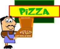 Het restauranteigenaar van de pizza royalty-vrije illustratie