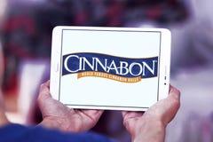 Het restaurantembleem van de Cinnabonbakkerij stock fotografie