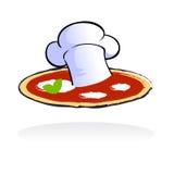 Het restaurantembleem van de pizza Stock Foto