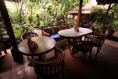 HET RESTAURANThotel VAN AZIË INDONESIË BALI UBUD Royalty-vrije Stock Foto's