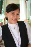 Het restaurantpersoneel van het hotel Stock Foto's