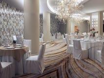 Het restaurantruimte van het Empryhotel Royalty-vrije Stock Foto's
