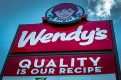 Het restaurantteken van het Wendys snelle voedsel Royalty-vrije Stock Afbeeldingen