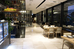 Het restaurantvoedsel van het ontbijtbuffet in een hotel royalty-vrije stock foto