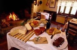 Het restaurantzitkamer van het land royalty-vrije stock foto