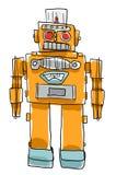 Het Retro de Kinderen van het Robotspeelgoed schilderen Stock Foto