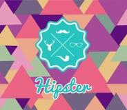 Het in retro Hipsters-naadloze patroon van etiketpictogrammen vector illustratie
