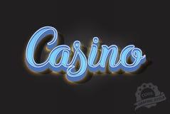 Het Retro neon van letters voorzien Royalty-vrije Stock Afbeelding