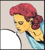 Het Retro vrouw spreken Royalty-vrije Stock Fotografie