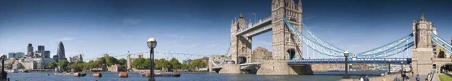 Het reusachtig-centrale panorama van Londen Royalty-vrije Stock Afbeelding