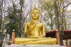 Het reusachtige beeld van Boedha bij de provincie van Watkhaoruk Phichit, Thailand Stock Foto