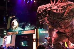Het reusachtige monster bij evolueert cabine bij E3 2014 Royalty-vrije Stock Foto
